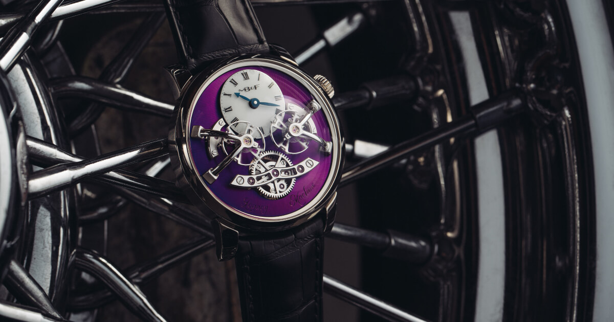 MB&F Legacy Machine No2 White Gold Purple (Pictures and Price)