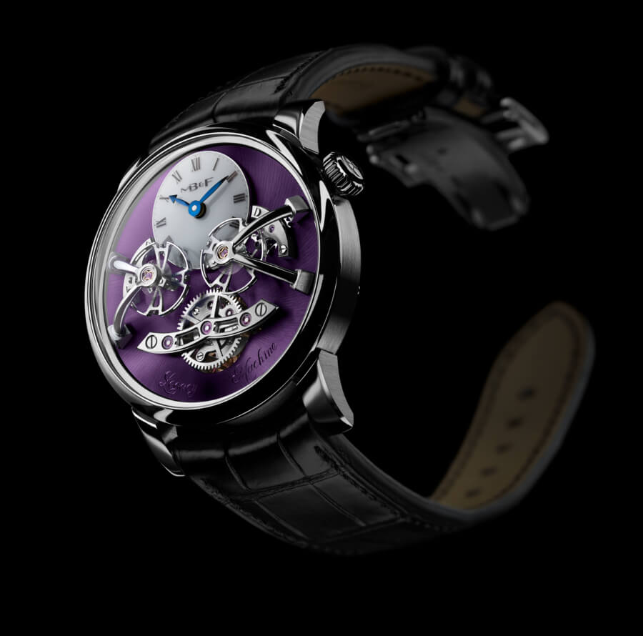MB&F Legacy Machine No2 White Gold Purple Pictures