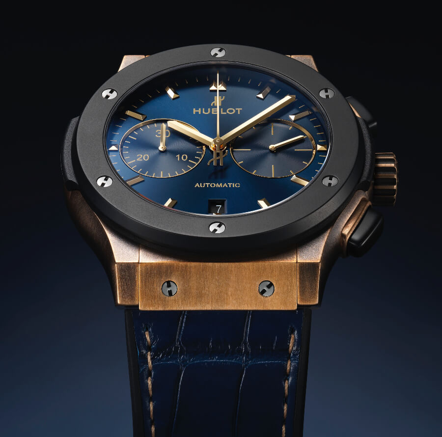 The New Hublot Classic Fusion 45mm Chronograph Bronze Bucherer Blue Edition