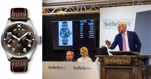 "IWC Big Pilot's Watch Annual Calendar Edition ""Antoine de Saint Exupéry"" Sold For US$ 29,731/CHF 30,000"