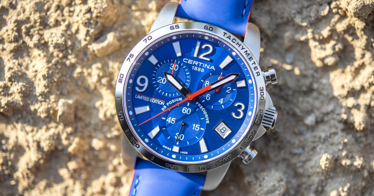 Certina DS Podium Chronograph 1/10 sec Wilvo Yamaha Limited Edition (Pictures, Specifications and Price)