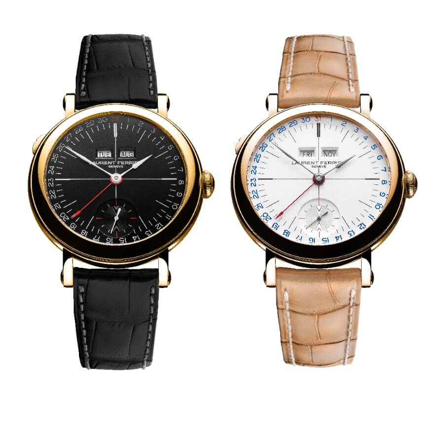 The New Laurent Ferrier Galet Annual Calendar School Piece Opaline Black & White