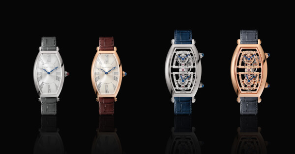 Cartier Prive Tonneau And Skeleton Dual Time Zone Watch