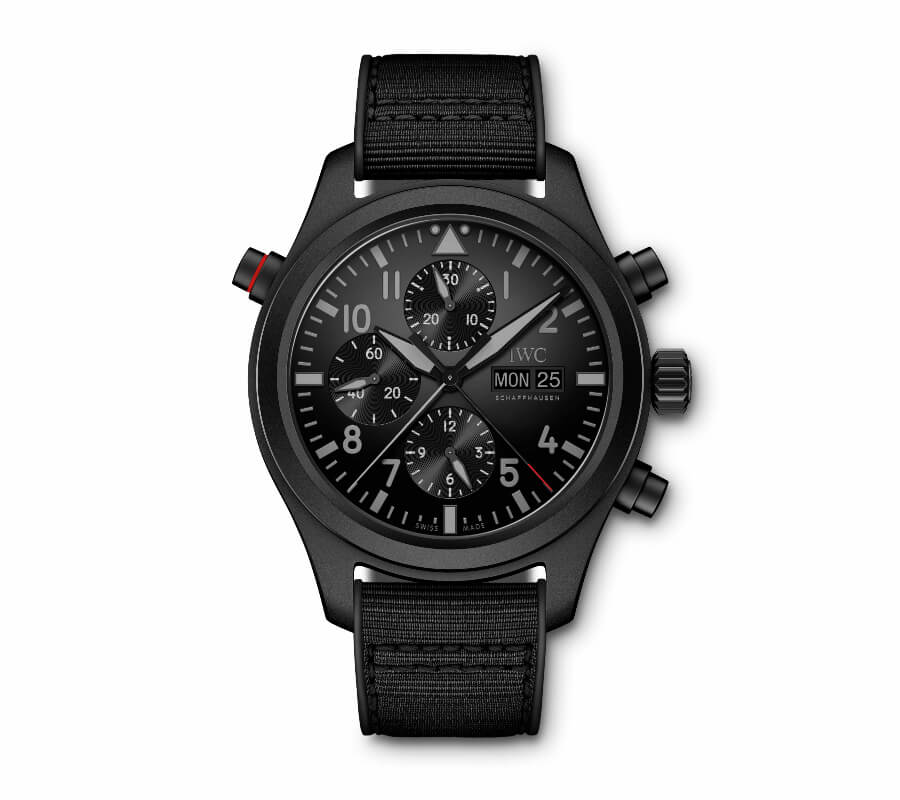 IWC Pilot Watch Double Chronograph Top Gun Ceratanium