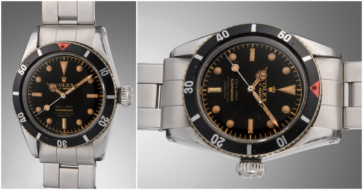 The Rolex Big Crown Ref 6538 Aka James Bond Submariner Sold For