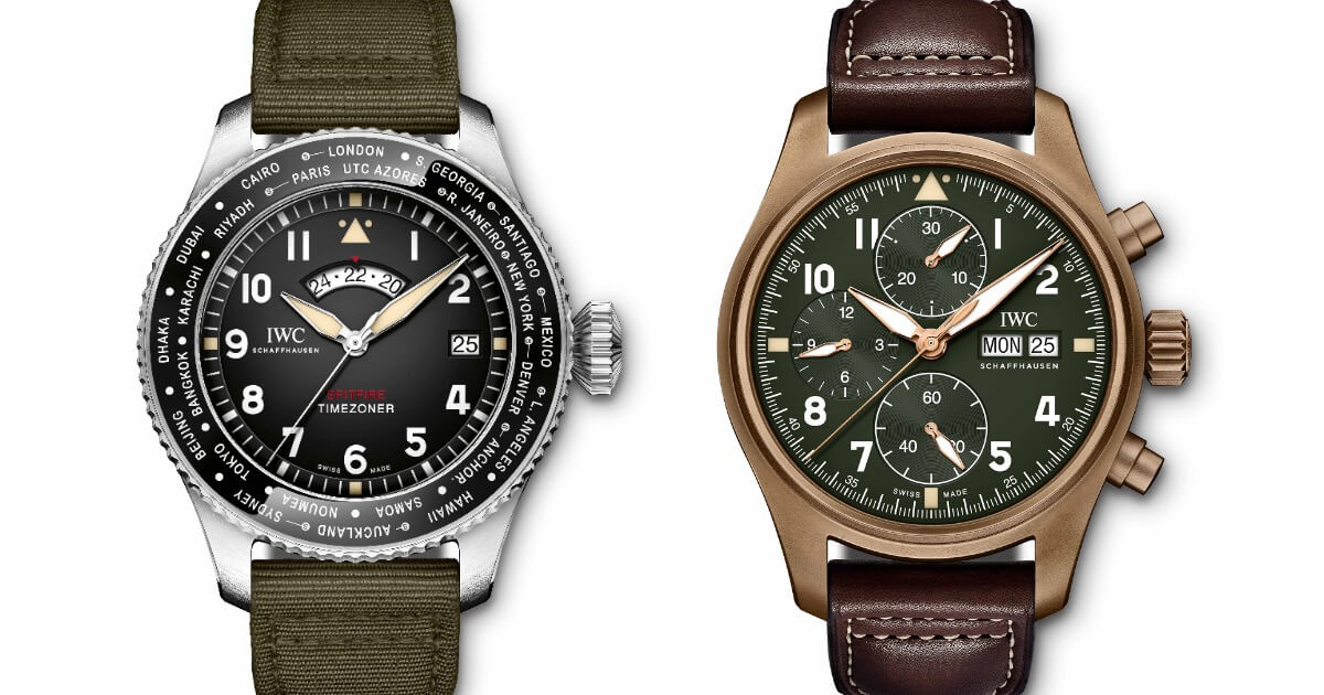 "Pre SIHH 2019: IWC Pilot's Watch Timezoner Spitfire Edition ""The Longest Flight"" and Chronograph Spitfire"