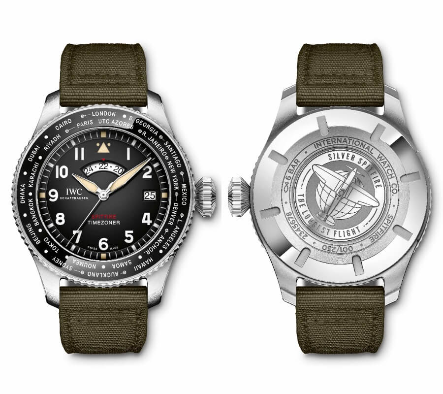 "The New IWC Pilot's Watch Timezoner Spitfire Edition ""The Longest Flight"""