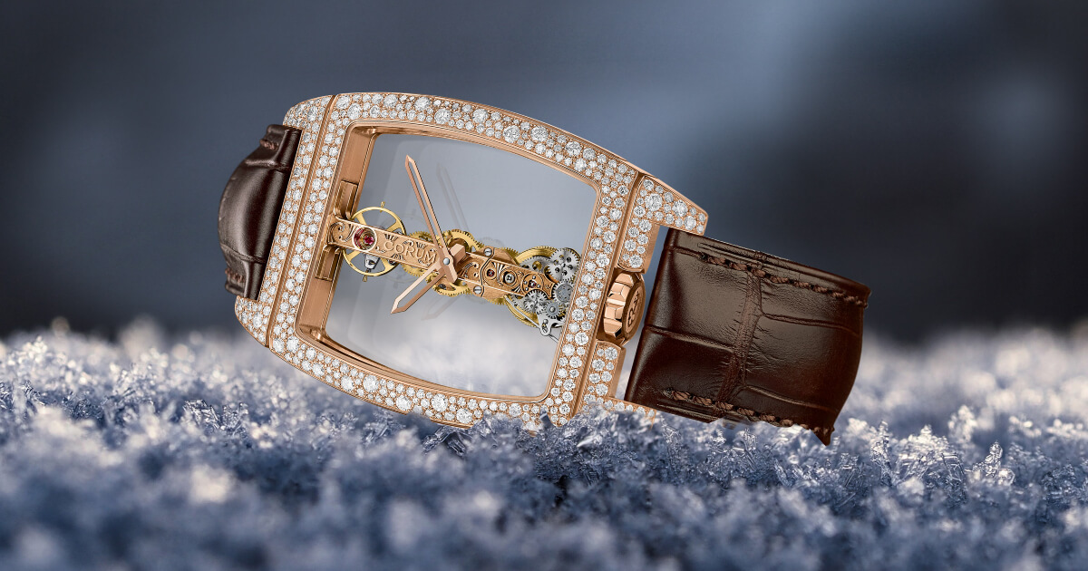 Corum Covers Its Golden Bridges In Snow