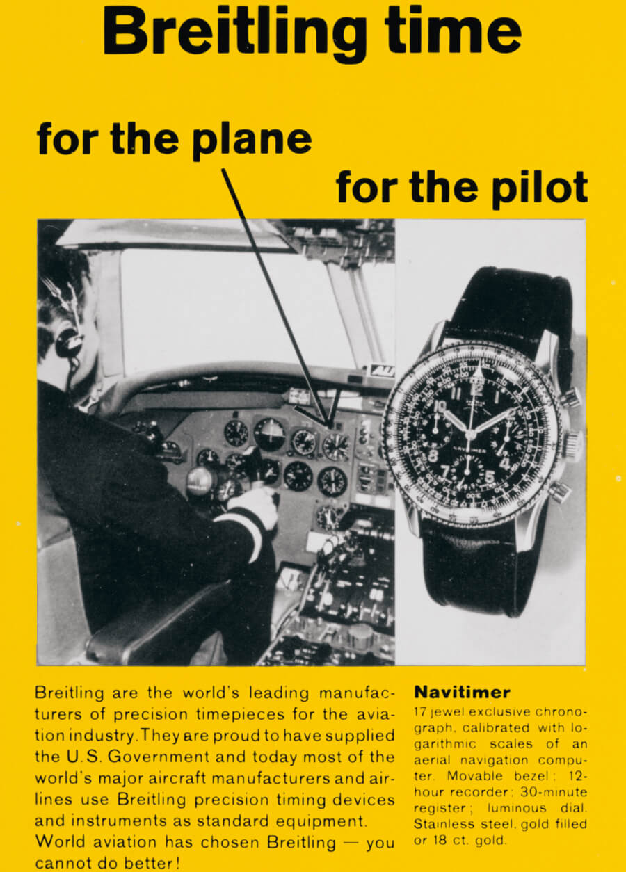 Breitling Advertisement 1950s 2221