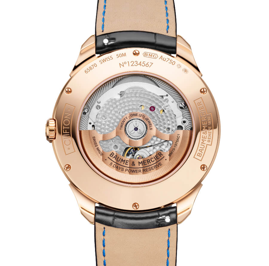 Baume & Mercier Clifton Baumatic Perpetual Calendar Movement