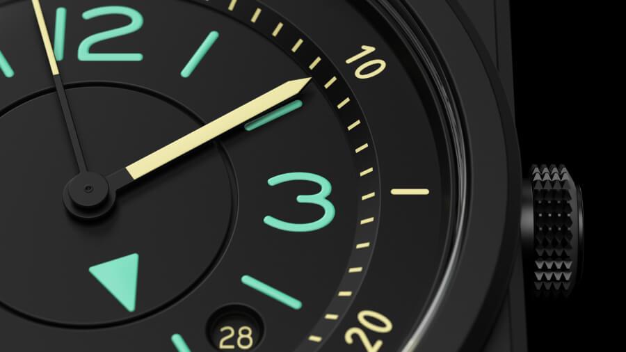 Bell & Ross BR 03 Bi-Compass Dial