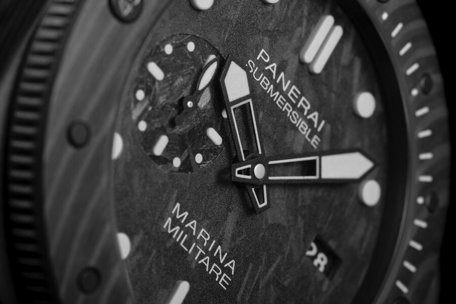Panerai Submersible Marina Militare Carbotech - 47mm Dial