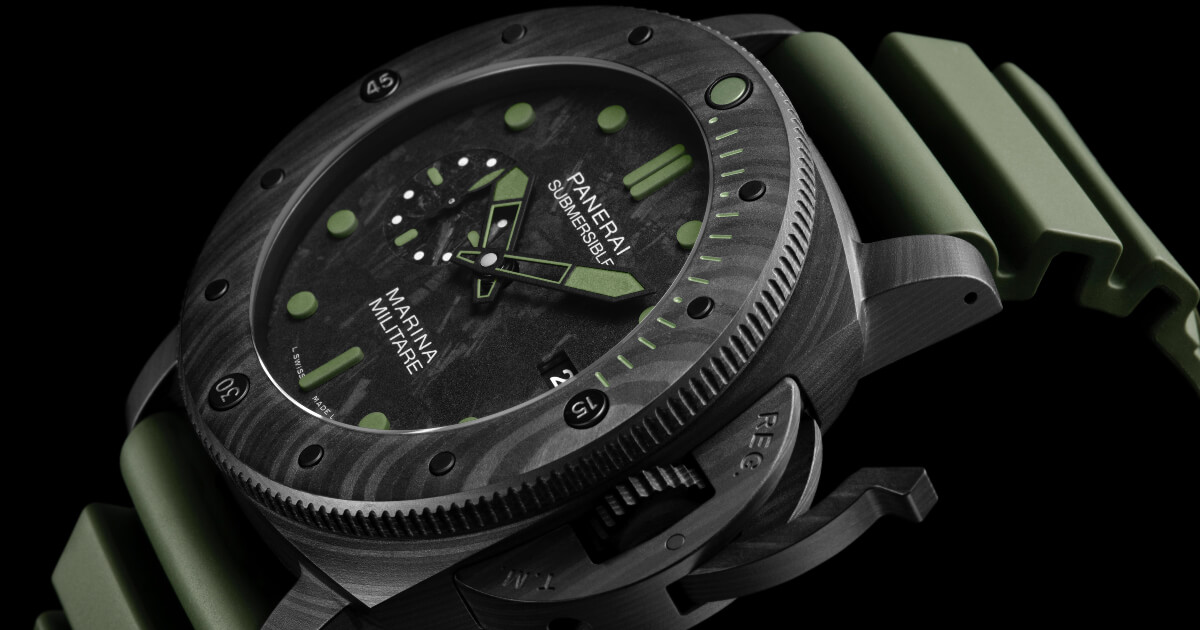 SIHH 2019: Panerai Submersible Marina Militare Carbotech - 47mm Limited Edition