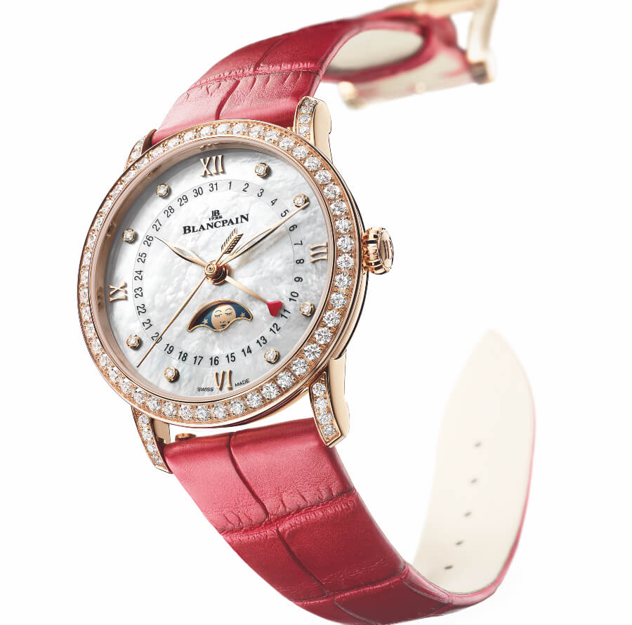 The New Blancpain Villeret Collection Quantième Phases de Lune Saint-Valentin 2019