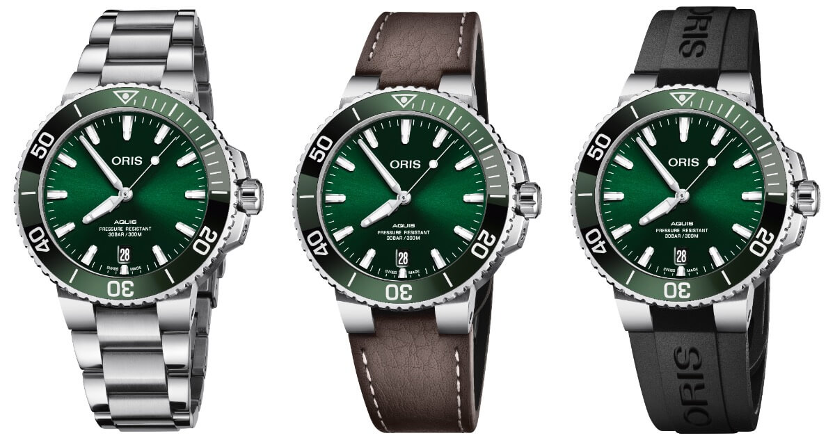 The New Oris Aquis Date Green Dial (Pictures and Price)