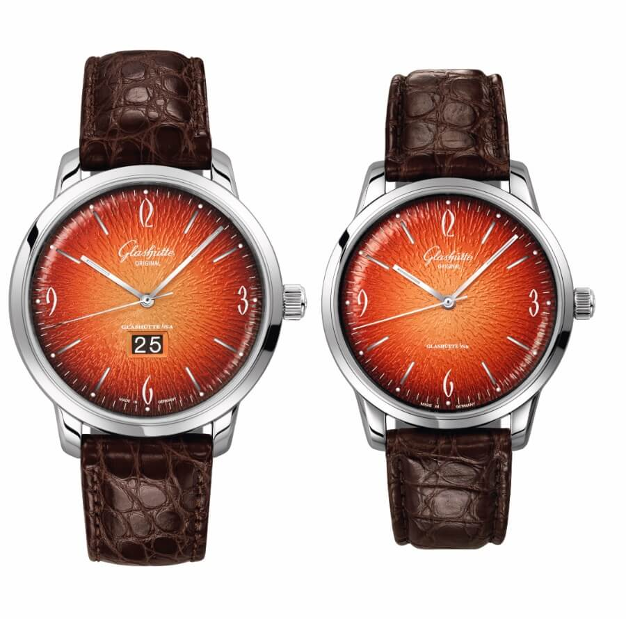 Glashütte Original Sixties and Sixties Panorama Date – Annual Edition 2019 in fiery orange