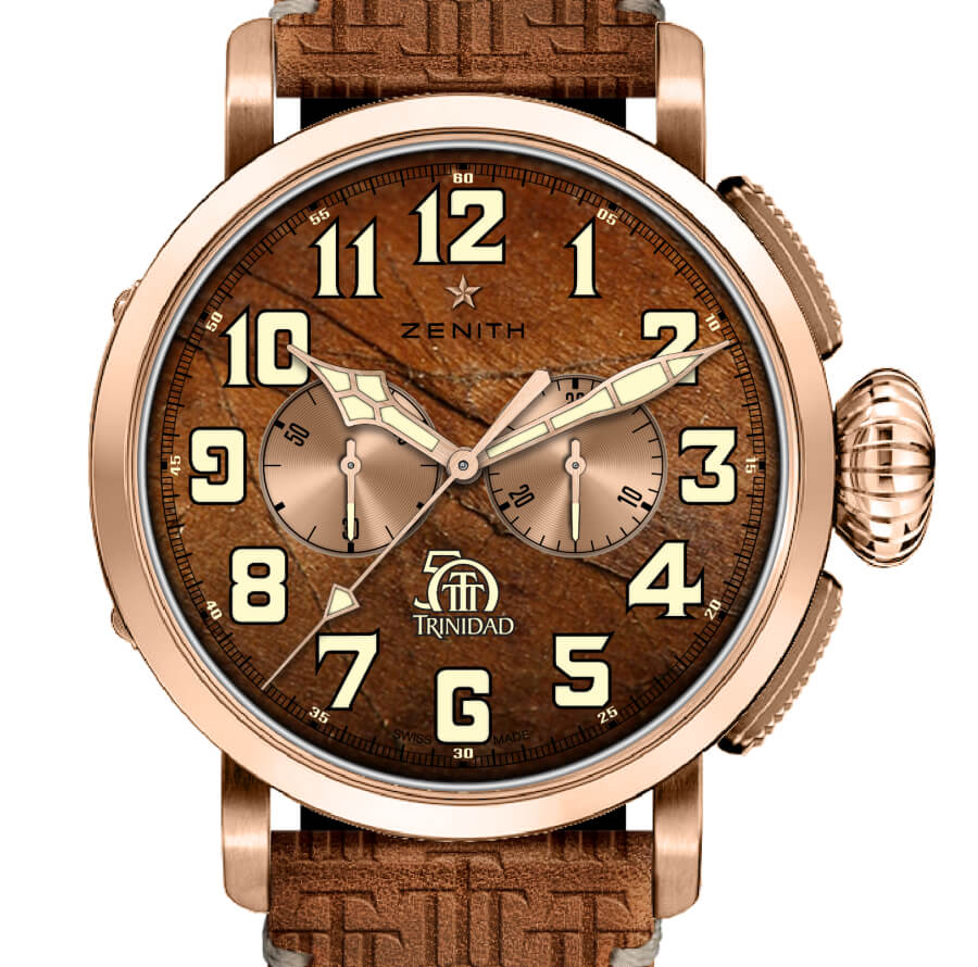Zenith Pilot Type 20 Chronograph Trinidad Edition Rose Gold Version