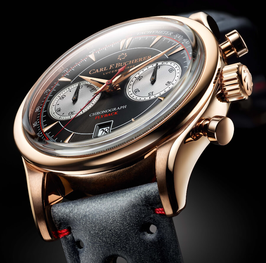 Carl F. Bucherer Manero Flyback in 18 k rose gold case