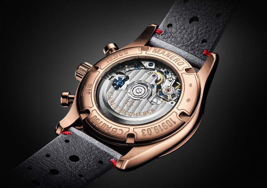 Carl F. Bucherer Manero Flyback in 18 k rose gold case Movement