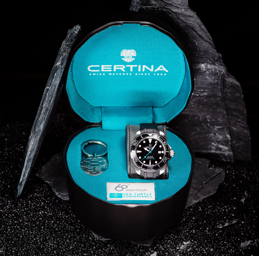 Certina DS Action Diver Sea Turtle Conservancy 60th Anniversary Full Box