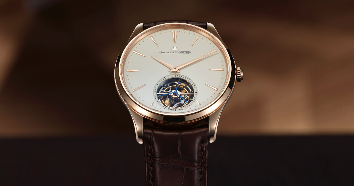 Jaeger-LeCoultre Master Ultra Thin Tourbillon In Pink Gold