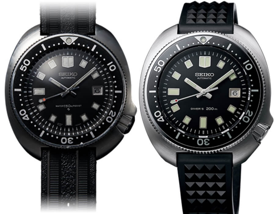 2019 The 1970 Diver's Re-creation Limited Edition and the original