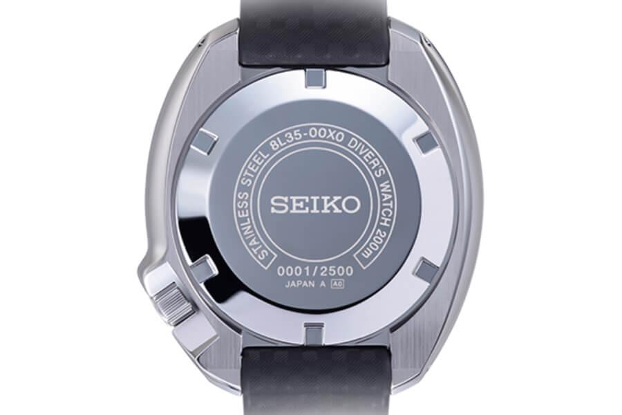 Seiko Prospex 1970 Diver's Re-creation Limited Edition Ref. SLA033 Case back