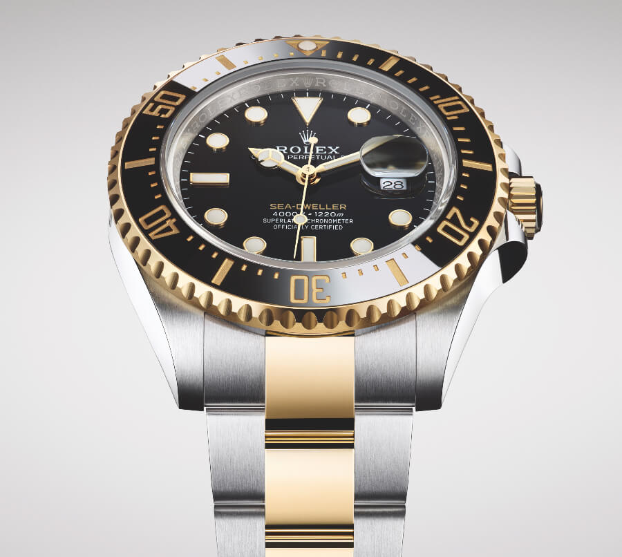 Rolex Sea-Dweller In A Yellow Rolesor Version Reference 126603