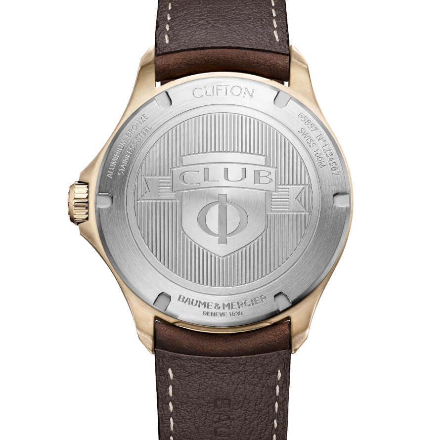 Baume & Mercier Clifton Club Bronze Case Back