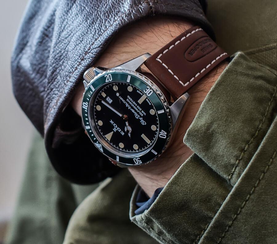 Diver Watch Green Bezel