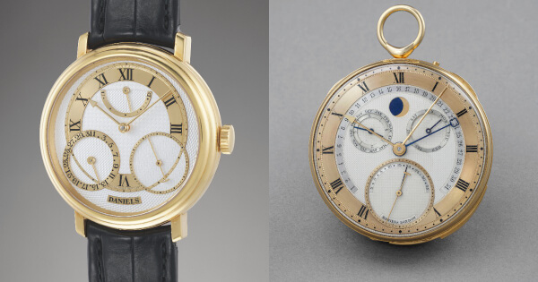 The sale of two masterpieces from George Daniels: The Grand Complication pocket watch and the Anniversary wristwatch