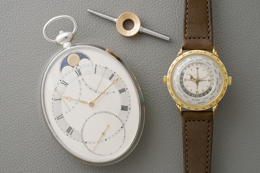 Phillips Indepedents Day Exhibition Derek Pratt pocket watch and Louis Cottier prototype wristwatch