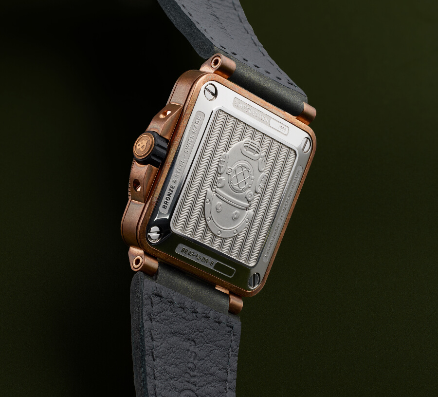 Bell & Ross BR 03-92 Diver Green Bronze Case Back