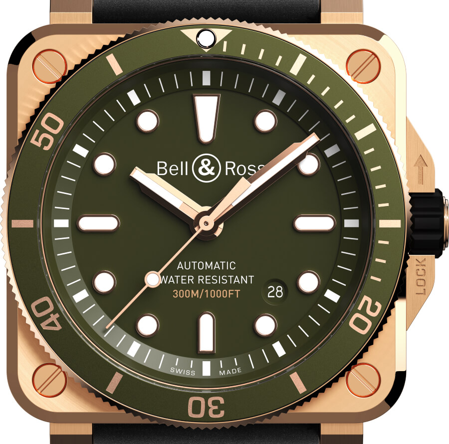 Military Aviation Watch Bell & Ross BR 03-92 Diver Green Bronze