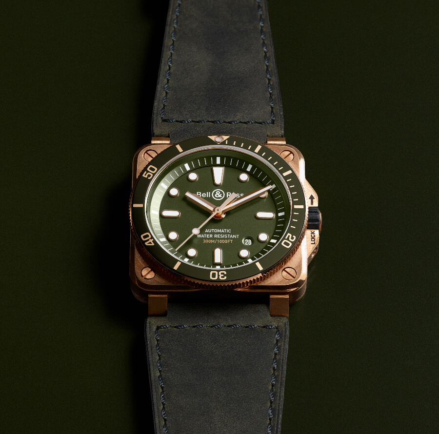 Bell & Ross BR 03-92 Diver Green Bronze Watch Review