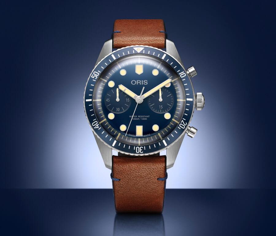 Oris Chronograph Blue Dial