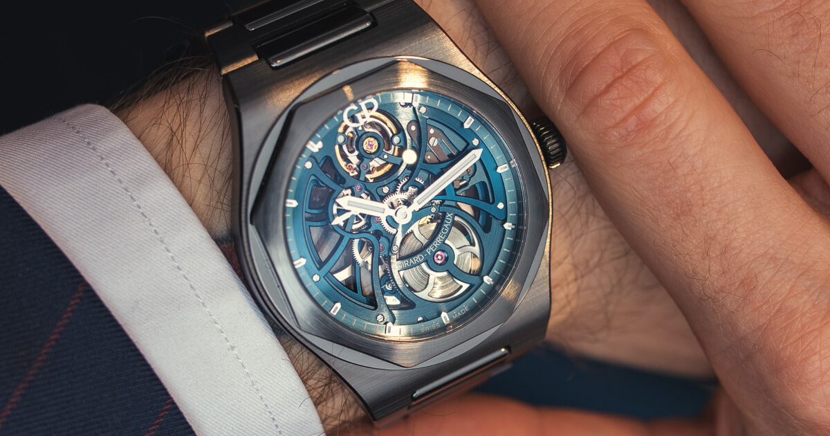 "Girard-Perregaux Laureato Skeleton ""Earth to Sky"" Edition (Specs and Price)"