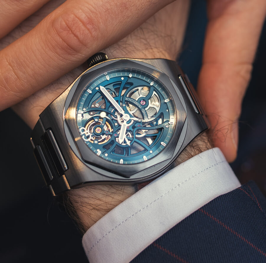 "Girard-Perregaux Laureato Skeleton ""Earth to Sky"" Edition Watch Review"