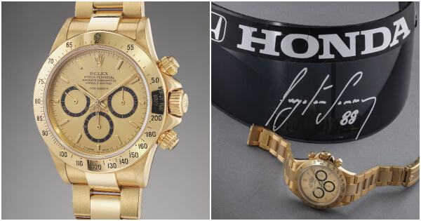 The Rolex Cosmograph Daytona offered by Ayrton Senna to Angelo Parrilla