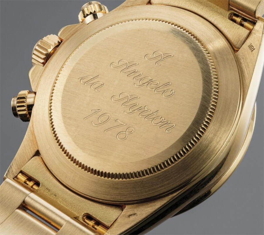 Rolex Cosmograph Daytona offered by Ayrton Senna to Angelo Parrilla