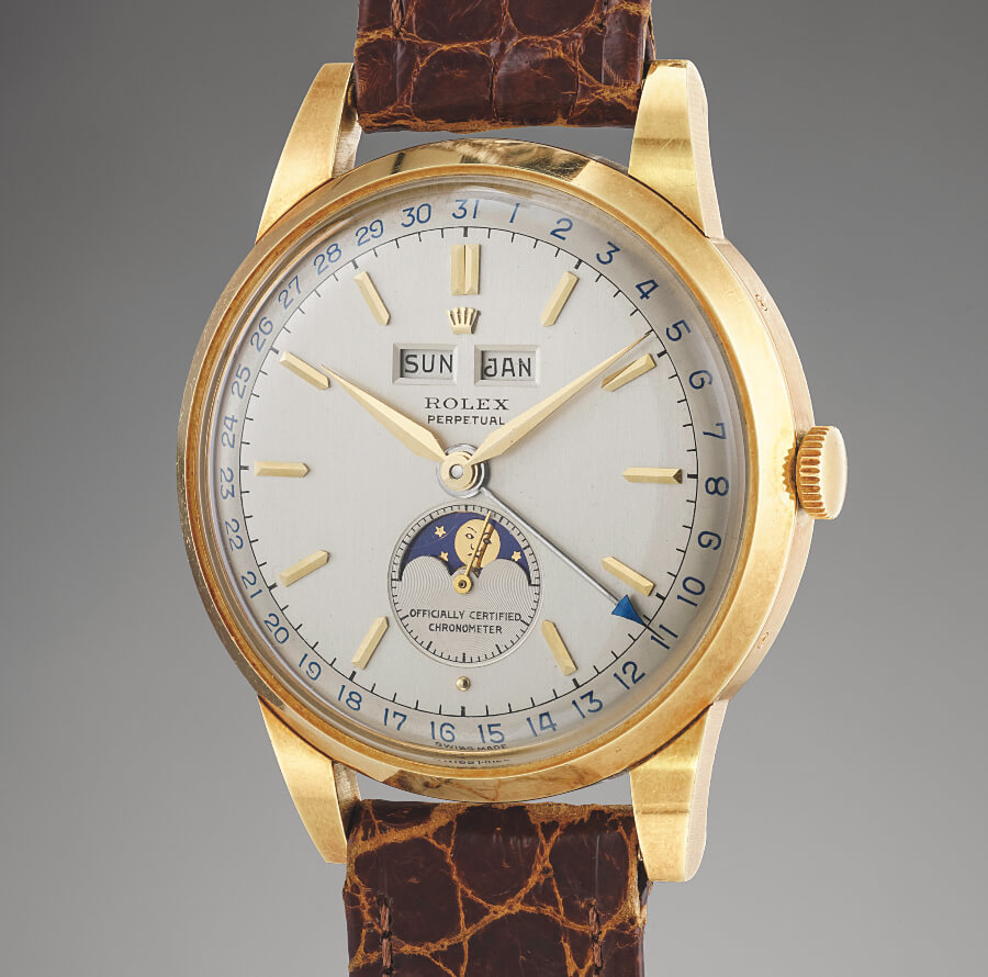 "Rolex two-tone dial ""Padellone"" reference 8171 in yellow gold"