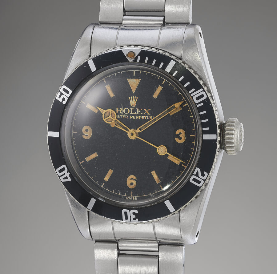 Rolex Ref 6200 from 1954 Explorer Dial