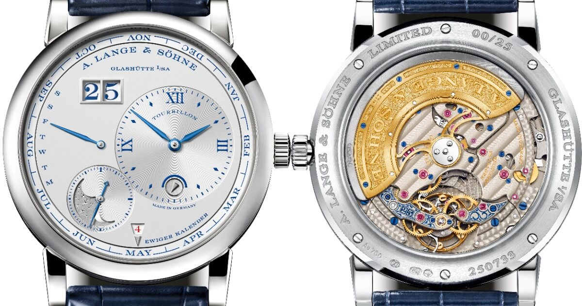 "A. Lange & Söhne Lange 1 Tourbillon Perpetual Calendar ""25th Anniversary"" (Specifications and Price)"