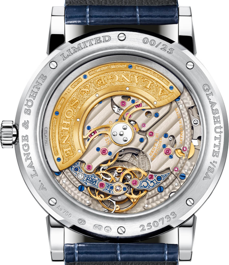 "A. Lange & Söhne Lange 1 Tourbillon Perpetual Calendar ""25th Anniversary"" Movement"