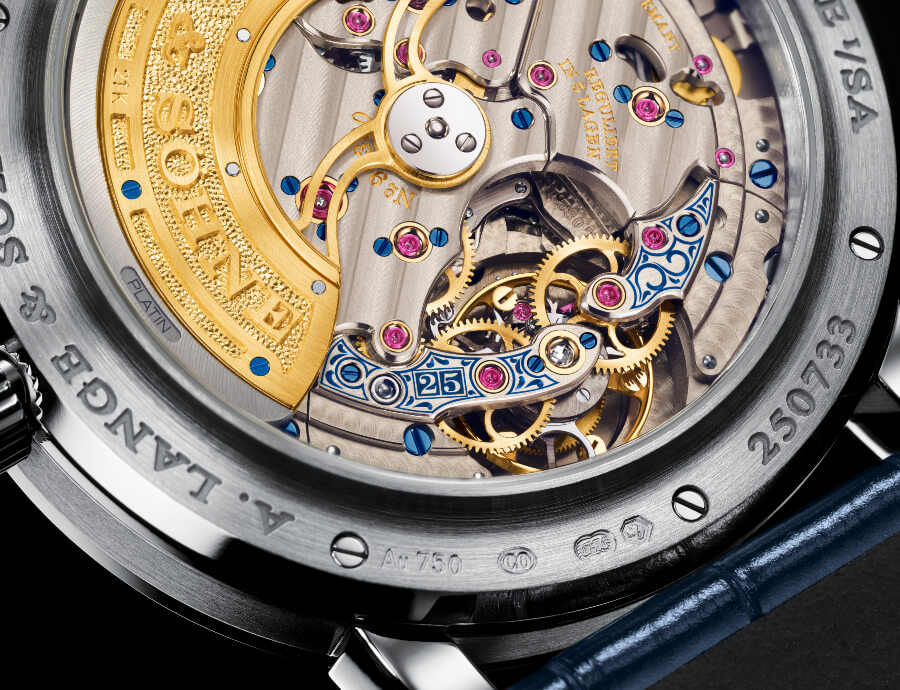 "A. Lange & Söhne Lange 1 Tourbillon Perpetual Calendar ""25th Anniversary"" Best Watch Movement"