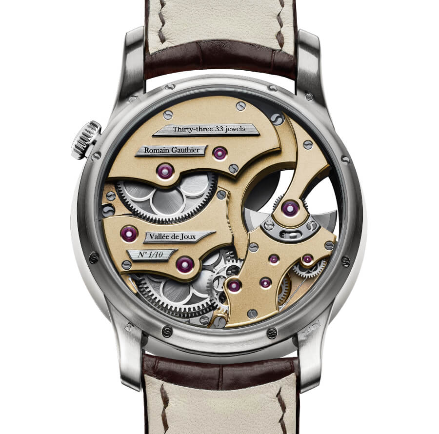 Romain Gauthier Insight Micro-Rotor White Gold Limited Editions Movement