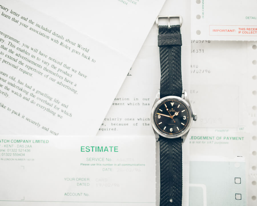 Rolex 6150 Explorer Box and Papers