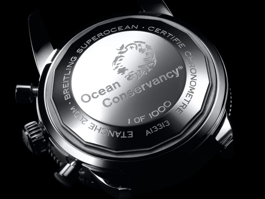 Breitling Superocean Heritage II Chronograph 44 Ocean Conservancy Limited Edition Case Back