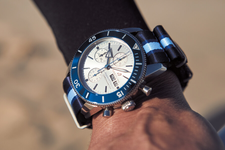 Diving with Breitling Superocean Heritage II Chronograph 44 Ocean Conservancy Limited Edition