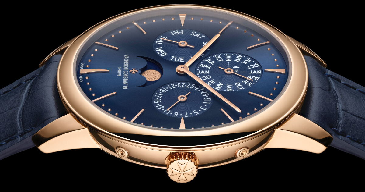 Vacheron Constantin Patrimony Perpetual Calendar Ultra-Thin In Rose Gold and Blue Dial (Price and Specifications)